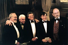Douglas Wilmer, Barry Cryer, Nicholas Utechin, Peter Horrocks & Tony Howlett (photo by James Hayzen)