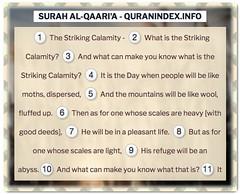 Browse, Read, Listen, Download and Share #Surah Al-Qaari'a [101] @ https://quranindex.info/surah/al-qaaria #Quran #Islam (Quranindex.info) Tags: islam quran reciters surahs topics verses