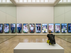 Unbuilding Walls (lars_uhlig) Tags: 2018 venice venedig venezia architektur architecture biennale italien itlay exhibition german pavillon germania graft pavilion screen mirror woman