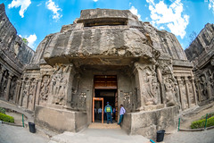 DSC_6174 (Ranjith_july) Tags: architecture archaeology paintings carvings india fisheye traveller wanderlust maharashtra aurangabad sky lowlight structure caves ellora ancient history buildings