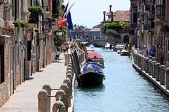 Venice - The back streets (kastrel) Tags: canal bridge bridges venice venezia italy sunny doroduro