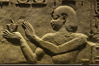 Relief of Ptolemy I Making an Offering to Hathor