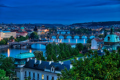 the evening is slowly coming to Prague (kadofr) Tags: czphoto hcsm prague czech evening moldau river charles bridge goverment