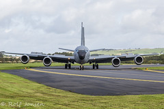 62-3500 Boeing KC-135R Stratotanker Prestwick airport EGPK 29.08-18 (rjonsen) Tags: plane airplane aircraft aviation military tanker transport cargo refueling airside stratotanker