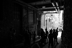 L1000171 (mixmatch89) Tags: postalley seattle blackandwhite leica streetphotography pikeplace gumwall