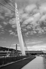 Swansea Marina Bridge B&W (Richgt1) Tags: bw blackandwhite black white swansea monochrome marina bridge clouds sea