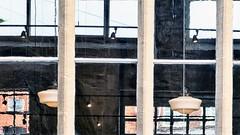 opgedeeld in vakjes (roberke) Tags: window raam venster reflections reflecties reflectie lights verlichting outdoor muur wall