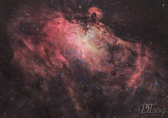 Eagle Nebula - Messier 16 (Delberson Tiago) Tags: astrophotography astronomy astrofoto astrofotografia astronomia astrophoto amateur baader qhy optolong cosmos ceuprofundo universe universo milkyway messier nightsky nasa nebulae night nebulosa nebula nature deepsky dso stars starfield sky skywatcher astrometrydotnet:id=nova2772236 astrometrydotnet:status=solved