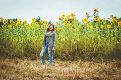 Macey (Katie3lizabeth) Tags: beauty beautiful strong girl woman portrait outdoors sunflowers sun fall summer smile wild flower child flowerchild work photograph photo nature
