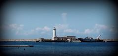 Porticciolo e Faro -  Marsala (dona(bluesea)) Tags: porticciolo port faro lighthouse mare sea cielo sky nuvole clouds marsala sicilia sicily italy