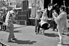 Let's dance (peer.heesterbeek) Tags: monochrome dance rockandroll eindhoven netherlands people music