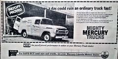 1958 Mercury Panel Truck (Canada) (aldenjewell) Tags: 1958 mercury panel truck newspaper ad canada