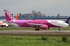 """Air Peach""""y"""" A320 JA810P lining up for takeoff at NRT/RJAA (Jaws300) Tags: airline airlines air boeing takeoff departing b737 b737800 b738 international airport b737ng japan jeju hl8062 korea jejuair lcc airplane aircraft airliner jet jetliner tokyo narita nrt rjaa lowcostcarrier canon 5d federal express fedex freighter cargo freight stand parking gate terminal sakura no yama park sakuranoyama sakuranoyamapark departure lineup liningup b767 b767f b767300 b767300f b763 b763f tokyonaritanrtrjaa airpeach a320 airbus pink canon5d remotestand federalexpress ja810p airpeachy peachy"""