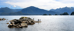 Fishing Buddies (Anthony Mark Images) Tags: water ocean sea mountains islands clouds people fishermen rocks fishing salmonfishing rodandreel fishingpoles men guyshangingout buddies comradery sitka alaska usa 49thstate nikon d850 sundaylights