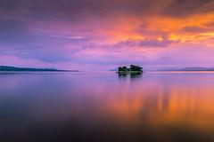 sunset 5232 (junjiaoyama) Tags: japan sunset sky light cloud weather landscape purple orange yellow contrast color bright lake island water nature autumn fall calm dusk serene reflection