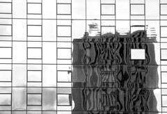 Wink (Karen_Chappell) Tags: travel chicago usa abstract glass window windows architecture building bw blackandwhite geometry geometric graphic illinois city urban square rectangle reflection reflections distortions
