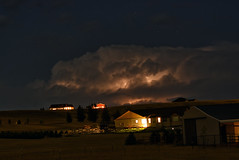 In Cloud Nightfall (northern_nights) Tags: thunderstorm storm night sky clouds cheyenne wyoming stars