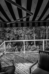 2018 - photo 260 of 365 - patio deck in the rain (old_hippy1948) Tags: rain patio chairs awning