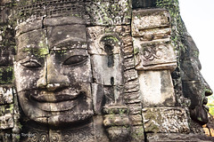 Details of Faces on Towers of Bayon Temple, Angkor, Cambodia-30 (Yasu Torigoe) Tags: krongsiemreap siemreapprovince cambodia kh