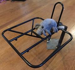 Dust Mite admires a painted 11x10.5 rack (Tysasi) Tags: photostream 11x105 rando rack porteur elephant nfe