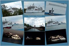 MS Silver Spirit (evisdotter) Tags: mssilverspirit silverseacruises luxurycruiseship kryssningsfartyg allpicssooc mariehamn collage 1icm 2nightshots