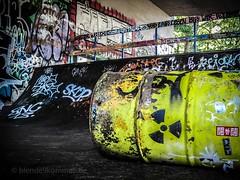 Urban radioactivity (blende9komma6) Tags: hannover linden germany canon ixus urban graffiti streetart halfpipe skate radioactivity radioaktivität