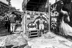 Street art in Sao Paulo (Luiz Contreira) Tags: street streetphotography streetart grafite blackwhite bw brazil brasil southamerica américadosul batman fotógrafosbrasileiros fotografiaderua pretoebranco pb sãopaulo sampa vilamadalena