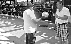 Pick a Melon (Robert S. Photography) Tags: standing bw yellowmelons sidewalk summer street scene monochrome brooklyn brightonbeach newyork sony dscwx150 iso100 august 2018