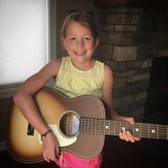 Moments With Mads (matthewkaz) Tags: madeleine daughter child guitar firstguitar gretsch acousticguitar home house burcham eastlansing michigan 2018