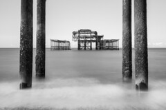 BnW of West Pier Brighton (gaztotalmods) Tags: