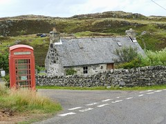 Red Phone Box(Library), Skerray, Sutherland, Aug 2018 (allanmaciver) Tags: phone box red rare sutherland north scotland british telecom house junction remote community library books allanmaciver