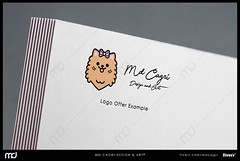 Pomeranian Logo - Prework (mdcagri) Tags: graphicdesign design illustrator photoshop adobeillustrator adobephotoshop graphic logo mockup letterhead minimalist flat minimalistlogo fiver seller