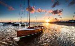 Mow Creek Sunrise (Mark Lindstrom) Tags: leefilter 1635 5dmkiii canon yatch moored water boat mowcreek brancaster sunrise norfolk