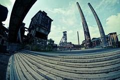 Ostrava - Vítkovice - Samyang 8mm f2,8 UMC FISH EYE II (petrwag) Tags: sonya6500 samyang8mm fisheye clickcamera czech wide ostrava vítkovice cityscape