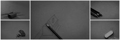 (Laszlo Papinot) Tags: negativespace fotf drawing sharpener pencil lead graphite rubber bw blackandwhite fiveonthefifth