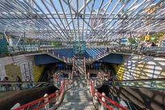 Rotterdam Blaak (FotoCorn) Tags: stairs rotterdam stairway cityllife people city railwaystation netherlands entrance blaak