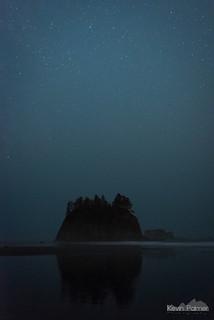 Hazy Night at Second Beach