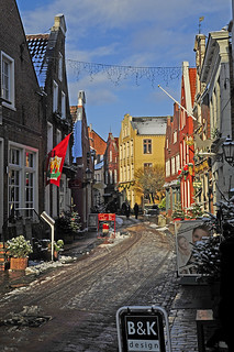 Old town of Leer (East Frisia) at wintertime