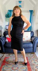 Broad shoulders (Trixy Deans) Tags: sexy xdresser sexyheels sexytransvestite sexylegs sexyblonde tgirl tv transgendered transsexual transvestite tgirls transvesite trixydeans dress lbd highheels heels heelssexy hot