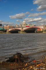 London, UK (Ben Perek Photography) Tags: london uk united kingdom england europe river thames bridge sky blue pebbles st paul