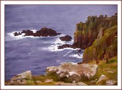 Poldalk Country(Cornwall UK) (williamwalton001) Tags: nationaltrust colourimage coastal cliffs rocks framed fineart ocean sea