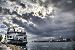 Rough Waters Ahead (DetroitDerek Photography ( ALL RIGHTS RESERVED )) Tags: allrightsreserved 313 detroit downtown riverfront detroitriver international border usa america canada detroitprincess boat ship tour realdetroitsky michigan midwest hdr 3exp canon 5d mkii digital eos detroitderek september 2018 storm cloudy urban