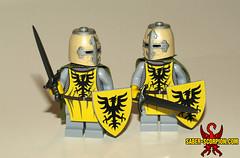 August 2018 Patreon Reward (Saber-Scorpion) Tags: lego minifig minifigure minifigures minifigs moc brickarms brickforge knight paladin crusader teutonic german germany teutonicknight crusades medieval greathelm