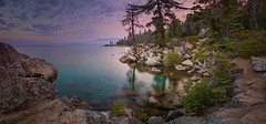 Tahoe Morning (PrevailingConditions) Tags: rocks tahoe laketahoe nv nevada trees lake water morning color landscape