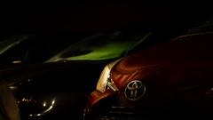 Mit Licht malen... (davidhorrmann) Tags: toyota rot abend parkplatz macro mehrfachbelichtung olympusem5 zuiko