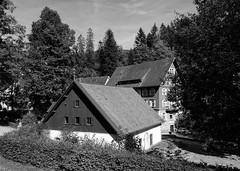 houses in the Northern Black Forest (mgheiss) Tags: schwarzweiss bw monochrom houses häuser klosterlädele sony rx100 schwarzwald allerheiligen allsaints nordschwarzwald