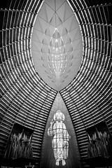 God's Architecture (Thomas Hawk) Tags: america bayarea california cathedralofchristthelight catholic eastbay oakland usa unitedstates unitedstatesofamerica westcoast architecture bw church fav10 fav25 fav50