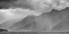 Norway in September (Role Bigler) Tags: canoneos5dsr norge norwegen bw blackwhite blackandwhite clouds ef4070200lusm fjord landscape mountains nature norway rain silverefexpro2 snow storm water