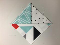 layering step 3 - fabric coasters
