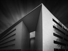 ADAC Building Dortmund (Thunderbird61) Tags: adacbuilding dortmund nrw architecture architecturalphotography cityscape mono monochrome sw bw zw nb schwarzweis blackwhite zwartwit noirblanc neroblanco nigeralbus pentax pentaxart mediumformat biancoenero lelongexposure